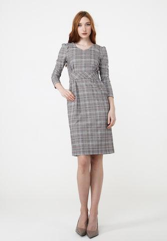 Madam-T Sheath Dress in Grey