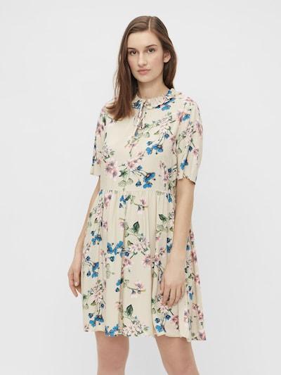 Rochie tip bluză 'Paree' OBJECT pe bej / alb kitt / azuriu / verde deschis / roz pal, Vizualizare model