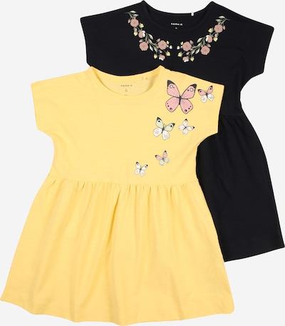 NAME IT Robe 'HEDVIIG' en beige / bleu foncé / jaune / jaune clair / rose, Vue avec produit