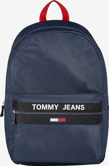 Tommy Jeans Rugzak 'Essential Contrast' in de kleur Nachtblauw / Rood / Wit, Productweergave