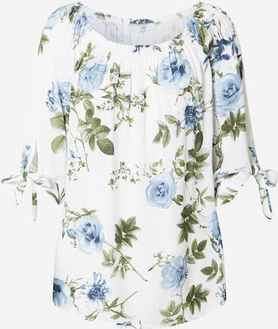 Tricou 'Lotty' Hailys pe albastru / oliv / alb murdar, Vizualizare produs