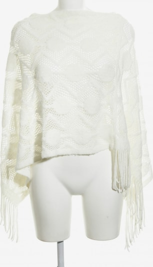 Cream Poncho in XS-XL in weiß, Produktansicht