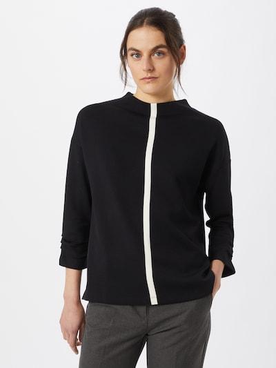 s.Oliver BLACK LABEL Majica u crna / bijela: Prednji pogled