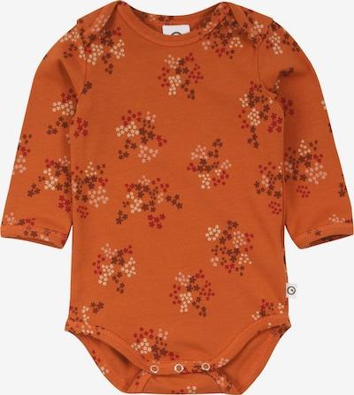 Müsli by GREEN COTTON Barboteuse / body 'Flora' en marron / orange foncé / rouge foncé / blanc, Vue avec produit