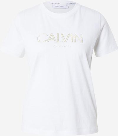 Calvin Klein Shirt in gelb / silber / weiß, Produktansicht