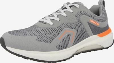 Dockers by Gerli Sneaker low i lysegrå / mørkegrå / orange, Produktvisning