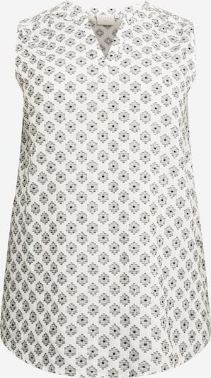 KAFFE CURVE Túnica 'Prensa' en gris / negro / blanco, Vista del producto