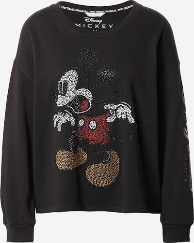 Frogbox Sweatshirt 'Mickey & Rhinestones' in de kleur Gemengde kleuren / Zwart, Productweergave