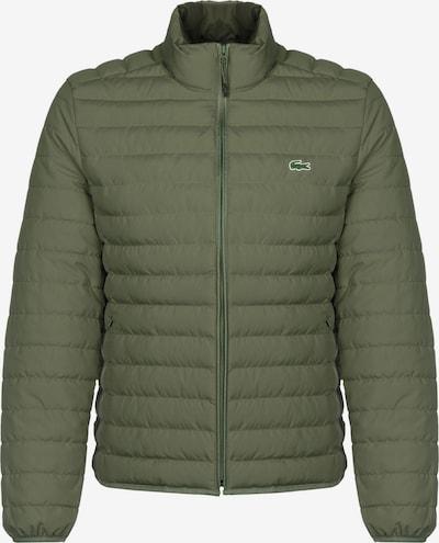 LACOSTE Tussenjas in de kleur Groen / Kaki / Rood / Wit, Productweergave