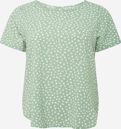 ONLY Carmakoma Shirt 'CARLUXINA' in grün / weiß, Produktansicht