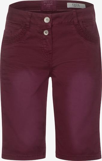 CECIL Shorts in rotviolett, Produktansicht
