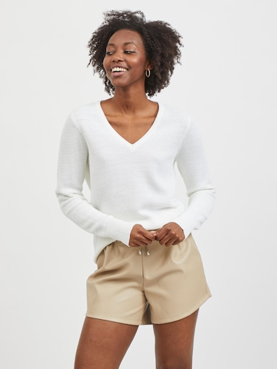 VILA Sweater 'Chassa' in White: Frontal view