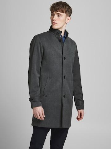 Manteau mi-saison 'Melton' JACK & JONES en gris