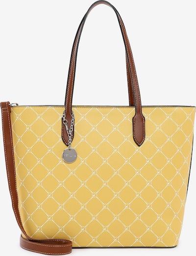 TAMARIS Shopper torba 'Anastasia' u smeđa / žuta / bijela, Pregled proizvoda