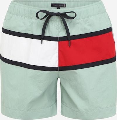 Tommy Hilfiger Underwear Plavecké šortky - mätová / ohnivo červená / čierna / biela, Produkt
