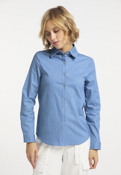 usha BLUE LABEL Bluse in rauchblau, Modelansicht
