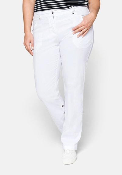 Pantaloni cargo SHEEGO di colore bianco, Visualizzazione modelli