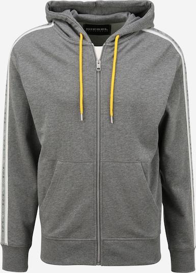 DIESEL Collegetakki värissä meleerattu harmaa / valkoinen, Tuotenäkymä