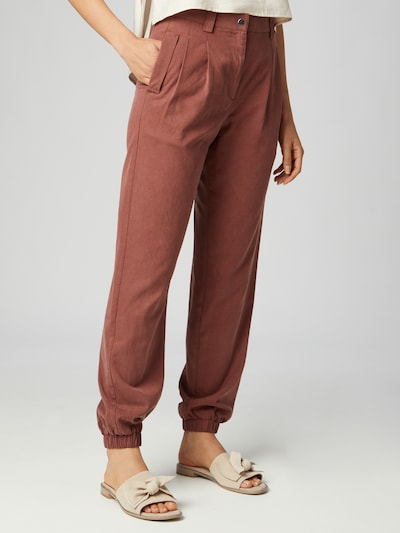 Guido Maria Kretschmer Collection Pleat-front trousers 'Nicola' in Brown, View model