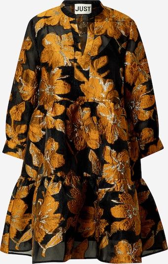 JUST FEMALE Košulja haljina 'Maison' u zlatno žuta / crna, Pregled proizvoda