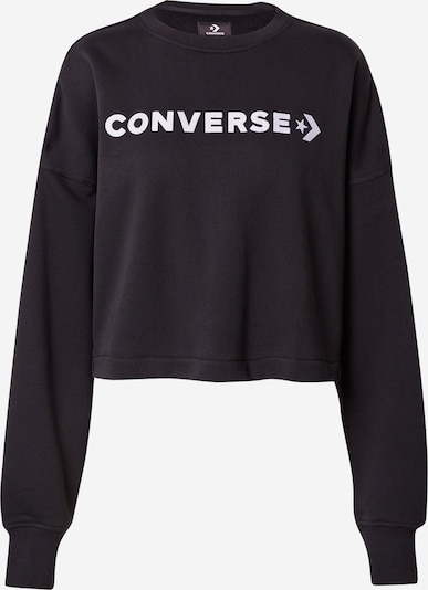 CONVERSE Sweatshirt in Black / White, Item view