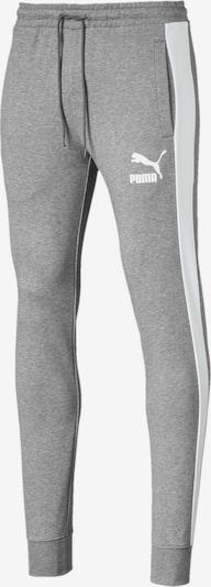 PUMA Sportbroek 'Iconic T7' in de kleur Grijs / Wit: Vooraanzicht