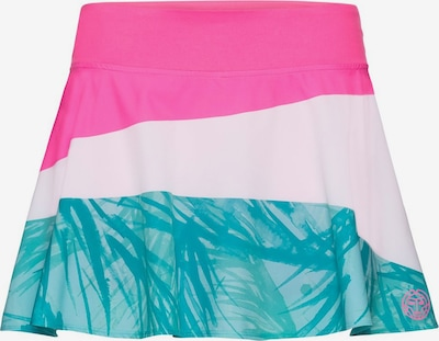 BIDI BADU Rock Mora Tech mit integrierten Shorts in türkis / pink / weiß, Produktansicht
