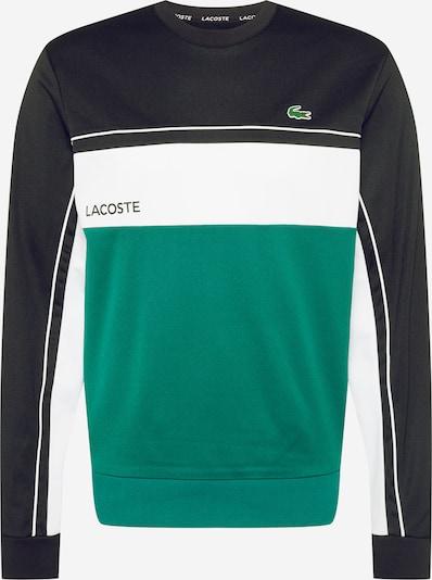 Lacoste Sport Športna majica | zelena / črna / bela barva: Frontalni pogled