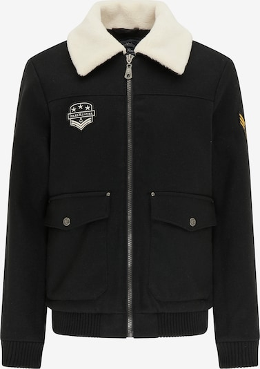 DreiMaster Maritim Tussenjas in de kleur Zwart / Wit, Productweergave