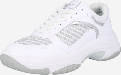 Calvin Klein Jeans Sneaker 'CHUNKY SOLE LACEUP PU-PES' in grau / weiß, Produktansicht