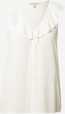 ESPRIT Pluus, värv valge