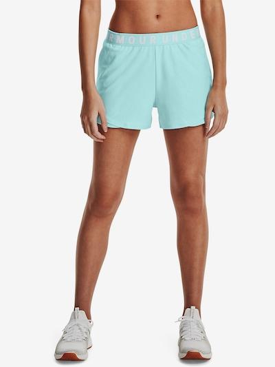 UNDER ARMOUR Sportbroek 'Play Up' in de kleur Aqua / Wit: Vooraanzicht