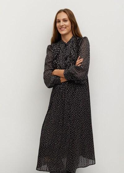 MANGO Haljina 'Domi' u crna / bijela, Prikaz modela