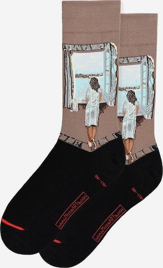 MuseARTa Socken ' Figure At The Window ' in mischfarben, Produktansicht