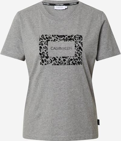 Calvin Klein T-Shirt in dunkelgrau / graumeliert / schwarz, Produktansicht