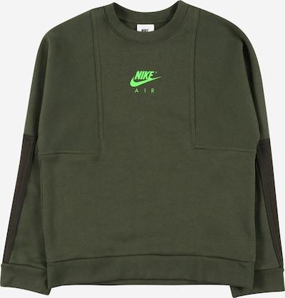 Nike Sportswear Sweatshirt in de kleur Neongroen / Donkergroen, Productweergave