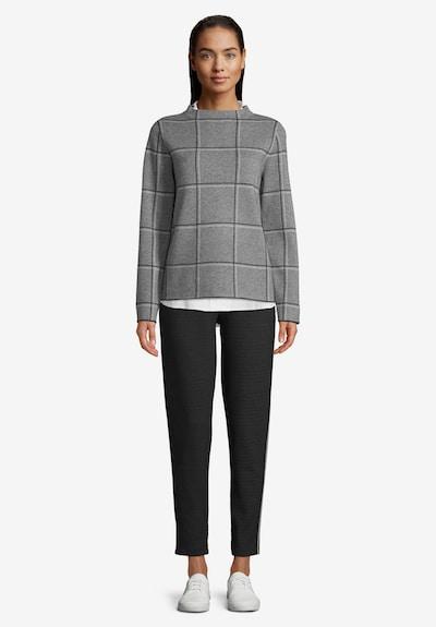 Betty & Co Strickpullover mit Stehkragen in grau / schwarz, Modelansicht
