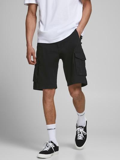 JACK & JONES Cargo hlače 'Zack' u crna, Prikaz modela
