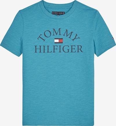 TOMMY HILFIGER Shirt in türkis / dunkelblau / rot / weiß, Produktansicht