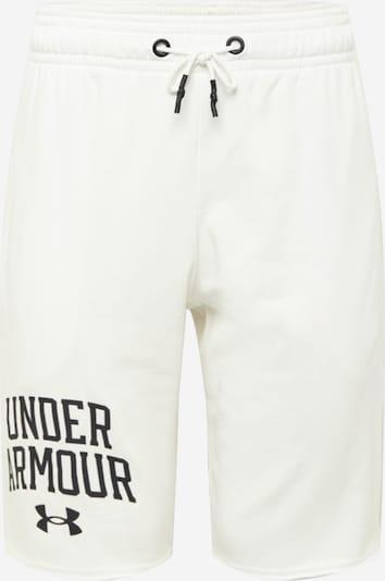 UNDER ARMOUR Pantalon de sport 'Rival Terry' en noir / blanc, Vue avec produit