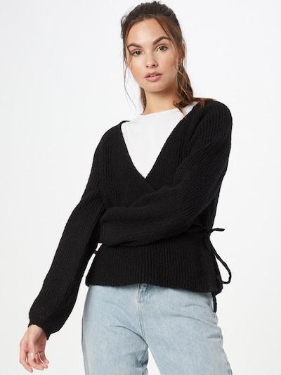 MOSS COPENHAGEN Knit Cardigan 'Lois' in Black, View model