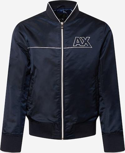ARMANI EXCHANGE Prijelazna jakna u mornarsko plava / bijela, Pregled proizvoda