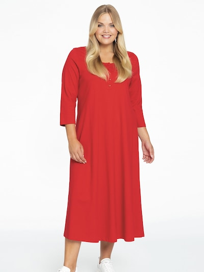 Yoek Kleid in rot, Modelansicht