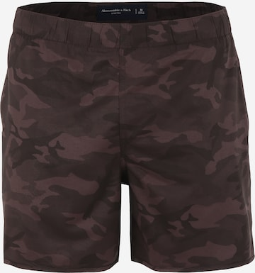 Abercrombie & Fitch Badeshorts in Braun