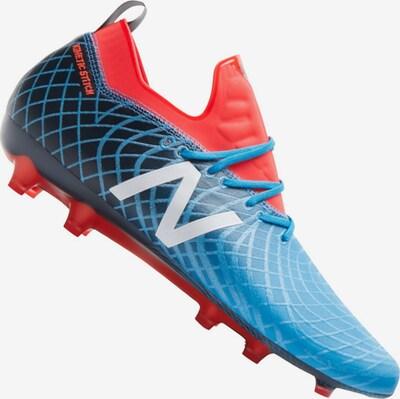 new balance Fußballschuh in blau / navy / silbergrau / rot, Produktansicht