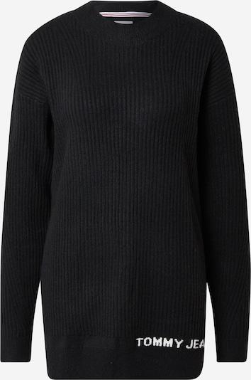 Tommy Jeans Pulover u crna / bijela, Pregled proizvoda
