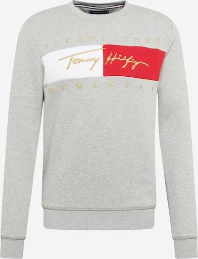 TOMMY HILFIGER Collegepaita värissä kulta / harmaa / tulenpunainen / valkoinen, Tuotenäkymä