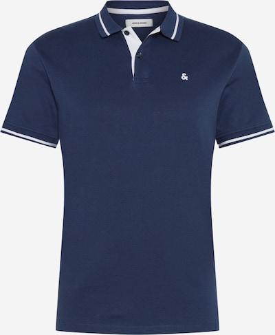 JACK & JONES Poloshirt in dunkelblau / offwhite, Produktansicht