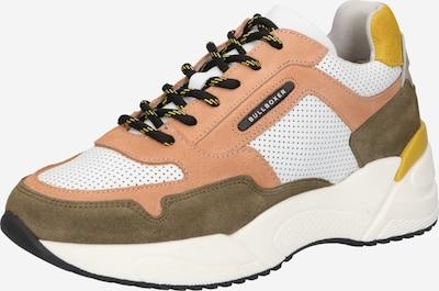 BULLBOXER Sneaker in brokat / gelb / apricot / weiß, Produktansicht