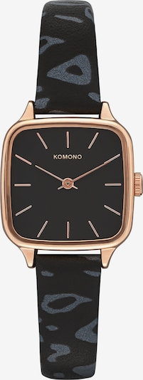 Komono Uhr in rosegold / grau / schwarz, Produktansicht